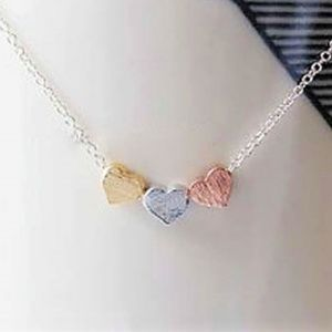 Jewelry - Sil_Three Heart Pendant With Silver Chain